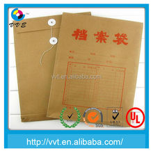 2015 Free Sample Manufacturer String And Button Closure Kraft Paper Large Bag Envelope