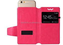 Special clip inside pu leather universal phone cover case for iphone/ samsung/Nokia