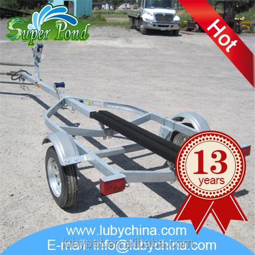 Customized big size galvanized boat trailer for fish boat