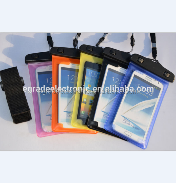 Armband Waterproof Case for iPhone 5, Cell Phone Case PVC Phone Waterproof Case for Samsung Galaxy Note II ,for S3 I9300, I9200