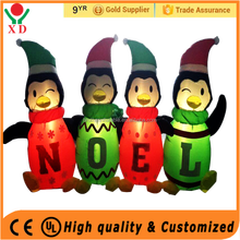 Factory price christmas Custom Outdoor Inflatable Christmas Noel Penguin