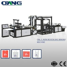 Hot selling Novel design PP nonwoven full automatic t-shirt bag making machine