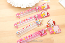 Good design and fashion advertising cute hello Kitty comb ball-point pen, cheap and fine