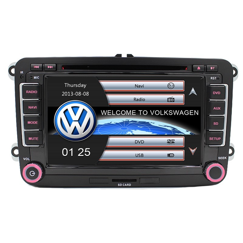 "7"" Capacitive touch screen Car DVD GPS built-in Can Bus Original VW UI for VW Volkswagen POLO PASSAT B6 Golf 5 6 Skoda Octavia"