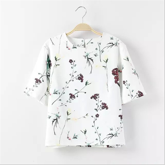 d82696f 2016 fashion apparel ladies floral blouses models summer tops for women