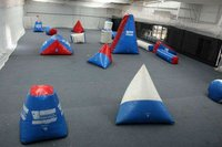 inflatable paintball air field with 0.45mm and 0.9mm PVC