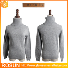 Light Grey Warm Winter Turtleneck Pullover Sweater