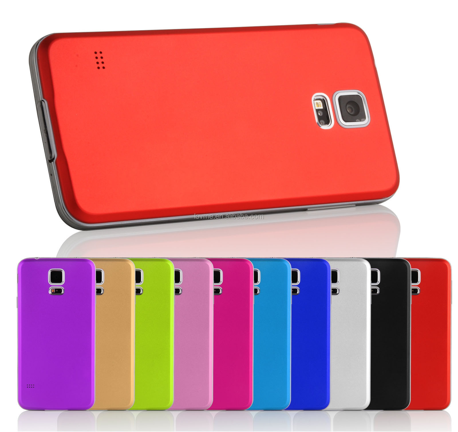 For galaxy s5 rechangeable aluminum battery case