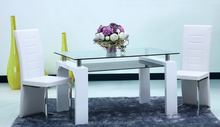wooden dinning table set modern glass dining room long table