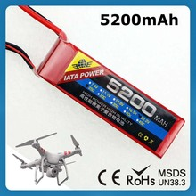 Super Nano Battery Cell Grade A Lithium Polymer 11.1V 3S 25C 5200Mah Rc Helicopter Battery