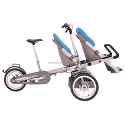 Three wheel two mode baby stroller electric vehicle
