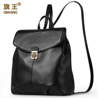 Qiwang 2016 New Fashion Women 100% genuine cowhide leather backpack Soft full grain leather high quality hot sales