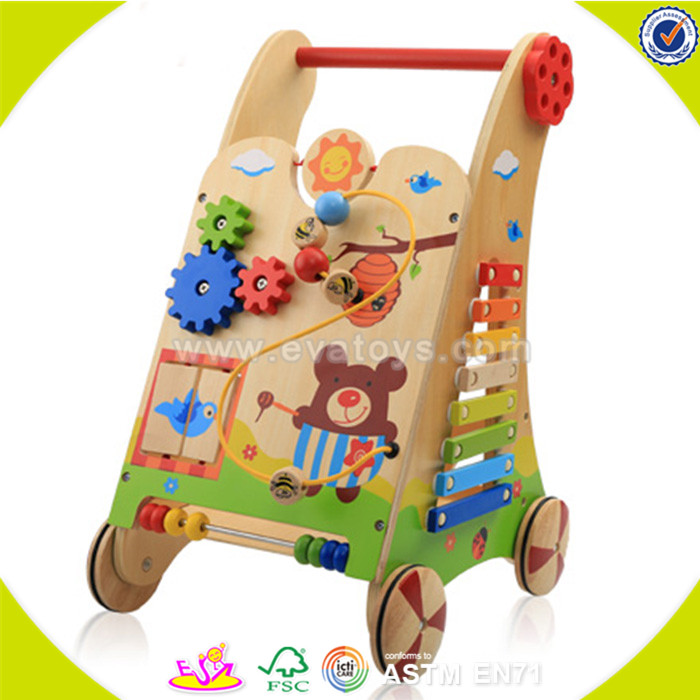wholesale fashion kids wooden toy walker popular children's wooden toy walker W16E034