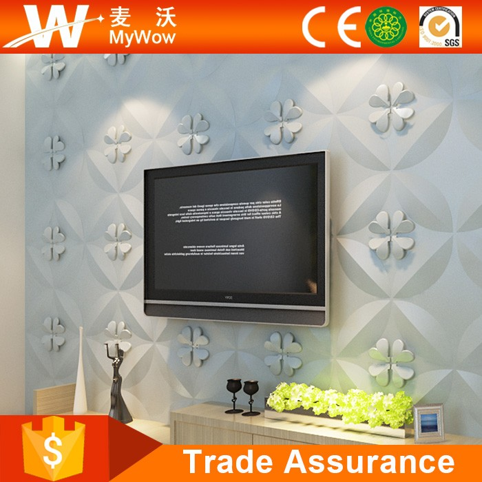 [WP-8] Eco-friendly Bamboo Plant Fiber Paintable Decorative 3D Cheapest Wall Panelings
