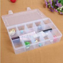 15 large lattice transparent plastic storage box ,36 compartments Clear PP Plastic Penny Mix Trays