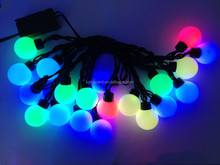 Free Shipping 5m 50leds dc 12v waterproof christmas garland string lights 220v-240v led rgb ball string light bulb + EU plug in