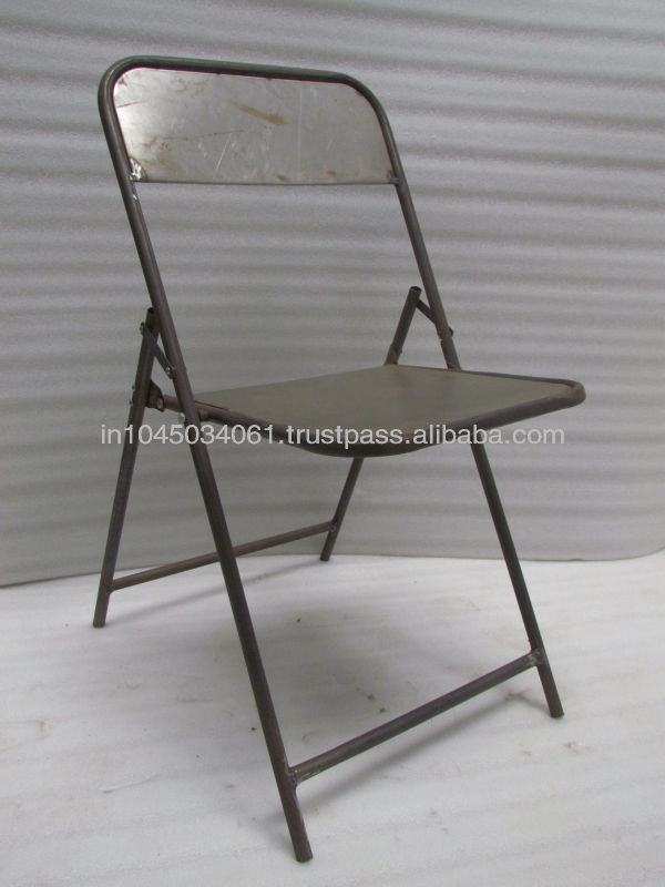Grey Color Metallic Folding Banquet Chairs
