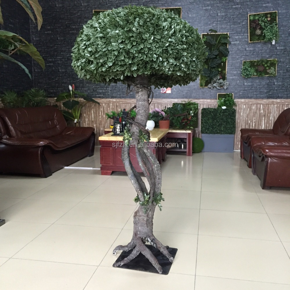 Hot Sale Milan Grass Shaped Mushroom Tree/Fake Topiary Tree High Simulation