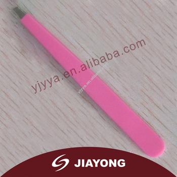 tweezers with pink silicon