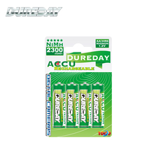 4 Pack HR6 2300mAh Pre charged rechargeable aa battery