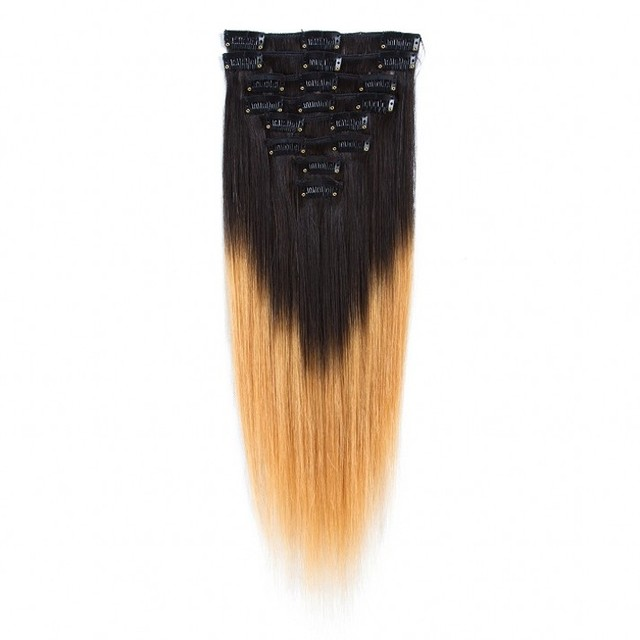 Online sale free sample peruvian ombre straight clip in human hair extensions uk