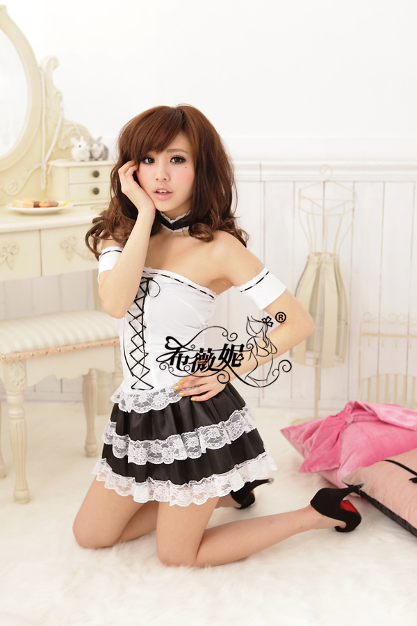 Fammez hot fashion DS367 french maid costume sexy naughty philippines maid costume for party