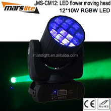 12x10W 4in1 RGBW Led Moving Head dmx led flower / beam led moving head
