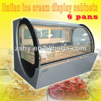 Mini ice cream counter refrigerators