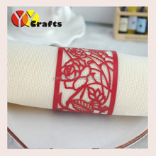 2016 New produts paper crafts red bulk handmade paper napkin rings