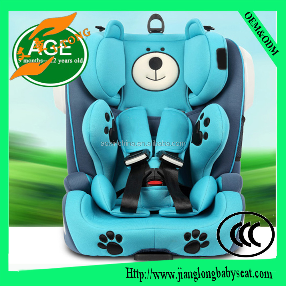 Baby car seat with ECE R44/04 certification (group 1+2+3, 9-36kg).Headrest adjustment easily