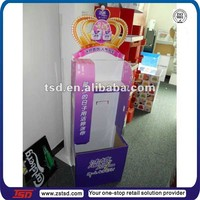 TSD-C146 Custom supermarket cardboard display stand for santary pad, tissue display shelf,point of sale cardboard display