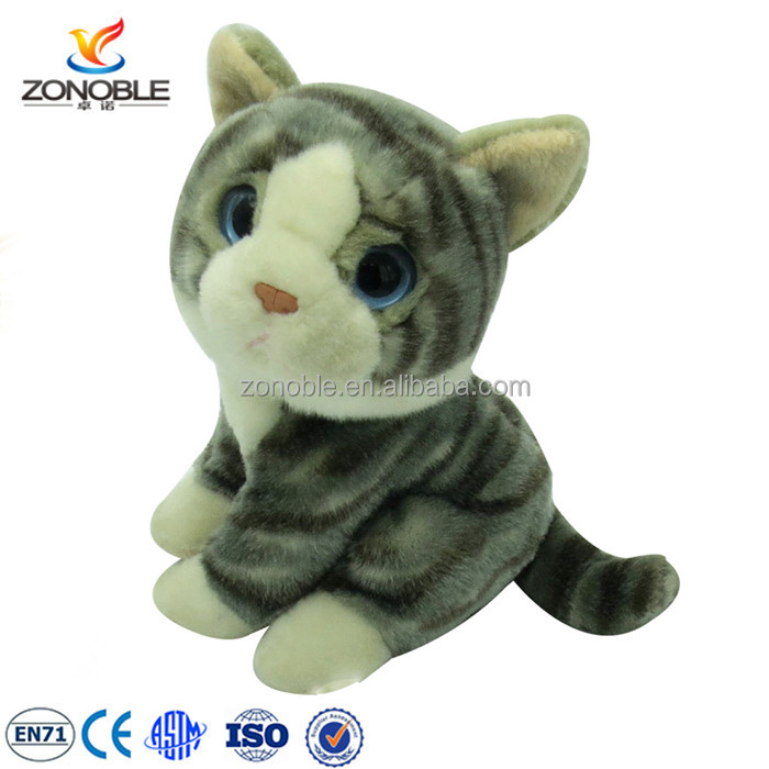 2016 cute Cat Plush Stuffed Animal Toy custom talking cat plush toy