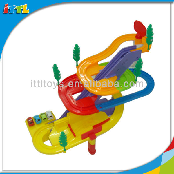 A432941 Electric Car Track Plastic Racing Car B/O Track Car Toy