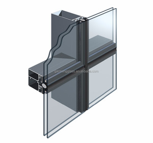 GM Thermal Break Frameless Double Glass Curtain Wall,Glass Curtain Wall Price