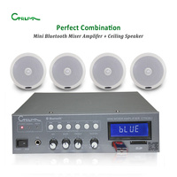 CTRLPA mini USB power mixer amplifier with bluetooth CT938U 40W+coaxial ceiling speaker CA826 Professional Public Address System