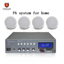 Chnlan Background music bluetooth mixer amplifier and ceiling speaker PA system for home