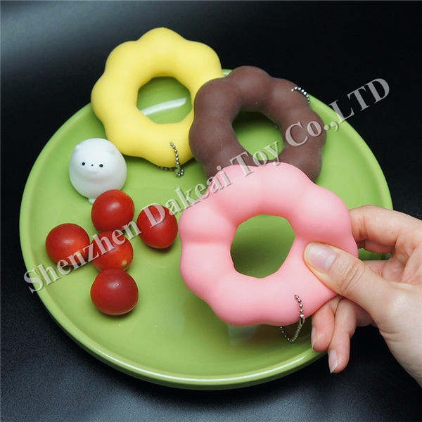 Jumbo Slow rising Doughnut donut Squishy Charm Stretchy Squeeze Toy