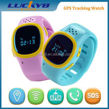GPS Tracker Kid Pink Girls Bluetooth Smart Watch Sim For Android IOS Anti-lost
