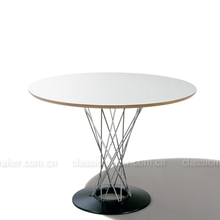 Fashionable design Cheapest price portable wood plank dining glass round table