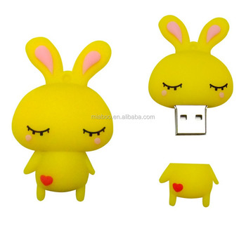 Best Price Wholesale Branded Logo Custom animal usb flash drive, cheap usb flash drives wholesale 3D rabbit pvc usb stick