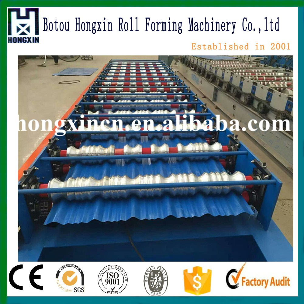 Aluminum galvanized zinc Tile Roll Forming Machine , Roof Making Manufacturer Machine