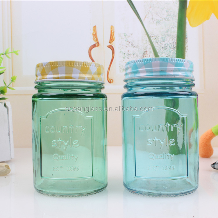 glass bottles for maple syrup glass mason honey jar with handle