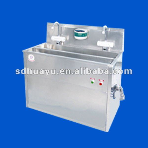 stainless steel wash trough inductive enclosed hand-washing and disinfection trough