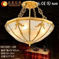 vinage matting glass brass pendant ceiling lamps, traditional hanging marble copper ceiling lamps