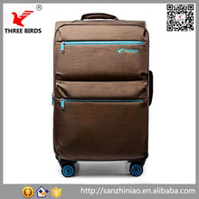 Factory outlet external cabin trolley luggage polyester trolley suitcase 24 inch China