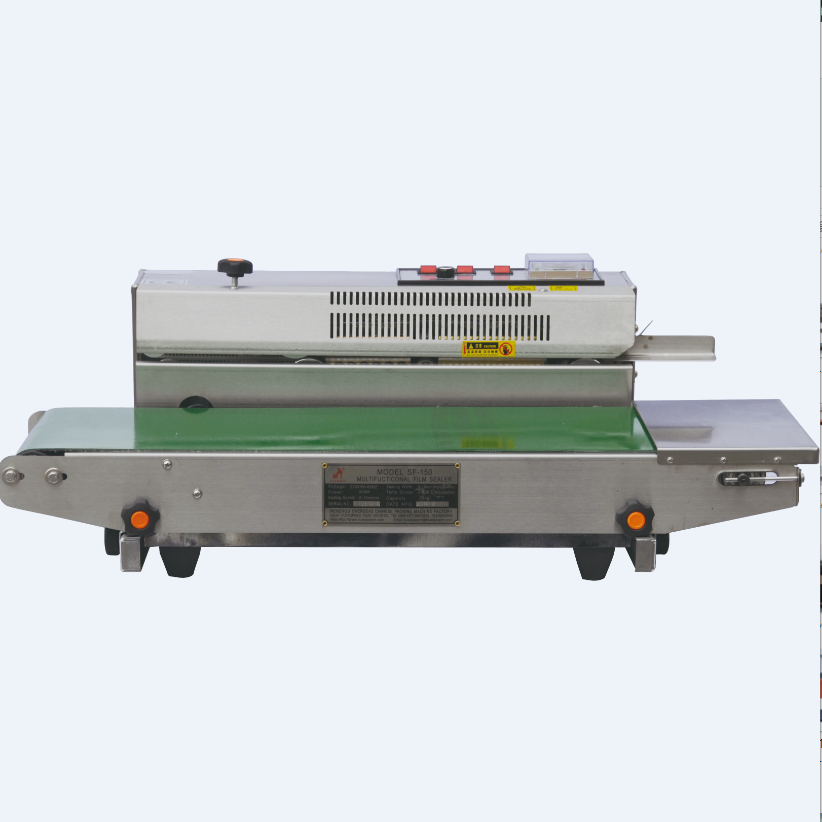 Plastic Bag heat sealer better than DBF-900 most durable Horizontal & Vertical double-use continous band sealer SF-150
