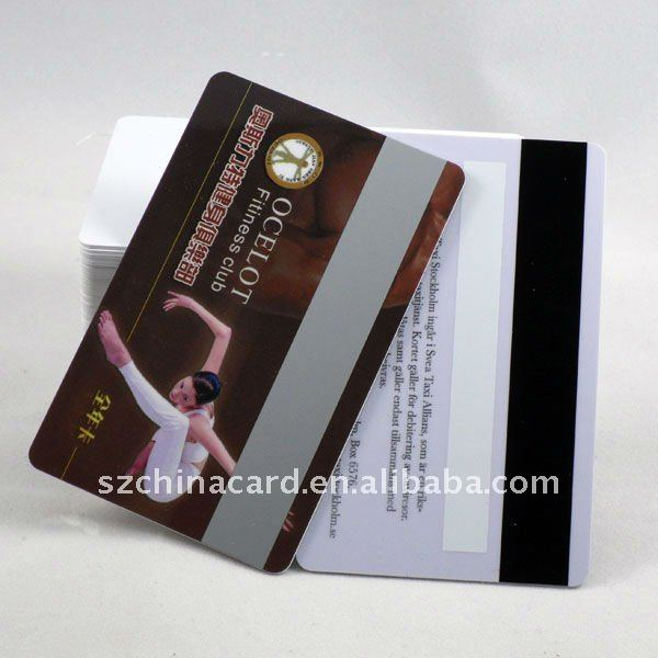 Plastic PVC Hico Magnetic Stripe Fitness Club VIP Member Card