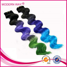 AAAAA grade hair double weft brazilian machine optional colored curly hair extensions