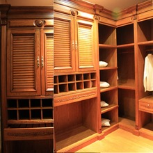 Fashion Design Clothes Storage Wardrobe with Plywood Carcass Wooden Walk in Closet in Good Quality