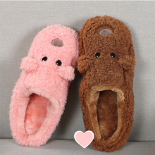 cute animation comic warm cartoon lovely cotton Indoor slippers dog cozy plush slipper breathable shoes footwear